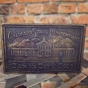 Other - COLORADO STATE PENITENTIARY VTG BRASS BELT BUCKLE